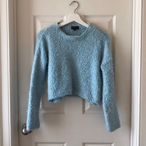 Blue Fuzzy Topshop Sweater